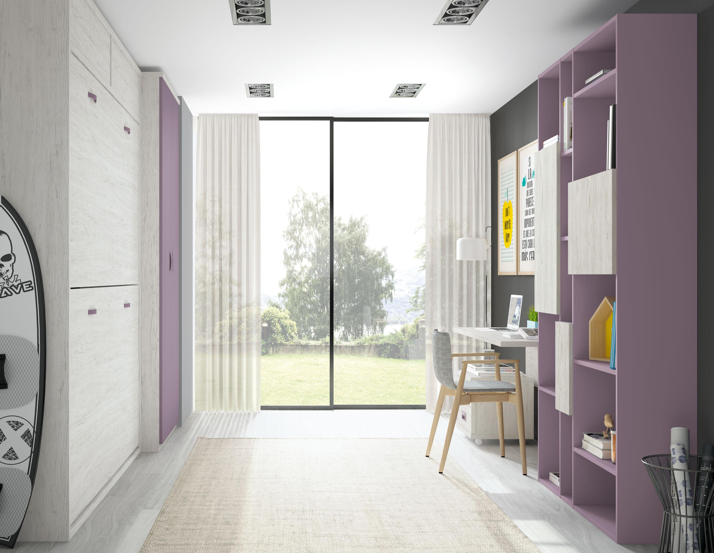Cama 190 x 90 doble abatible horizontal Premium con altillo 238 x 42 cms