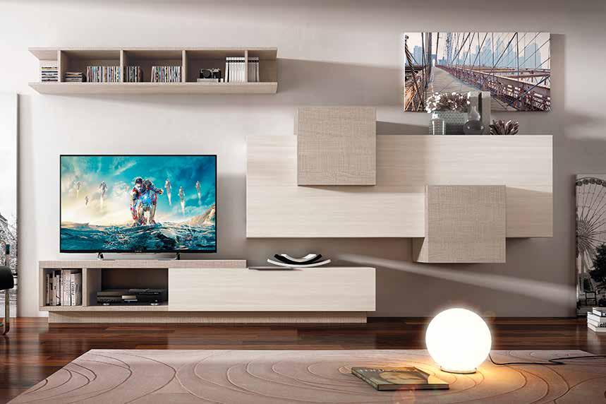 Composición mueble de salón moderno