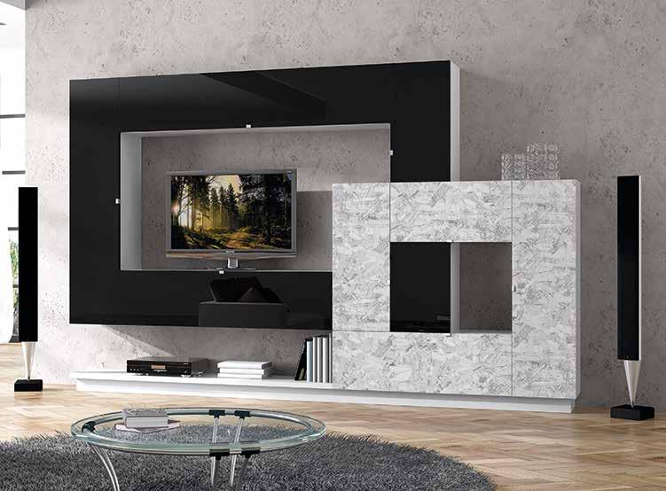 Muebles De Salon Madrid : Composición mueble de salón muebles adama tienda