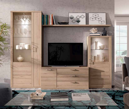 Mueble de sal n color roble natural muebles adama tienda for Color roble natural