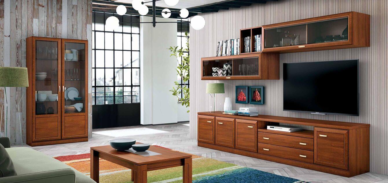 Mueble de salón Nogal