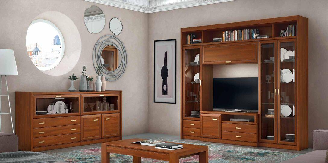Mueble de salón en nogal