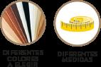 Diferentes medidas y colores