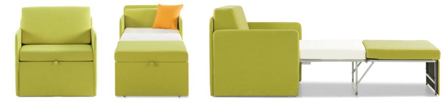 Sofá cama 1 plaza desplazable
