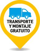 Transporte y montaje gratis