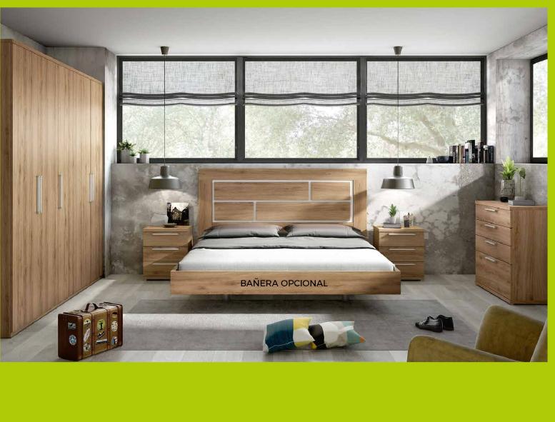 Cabecero para cama de 135x190 cms + 2 mesitas de noche