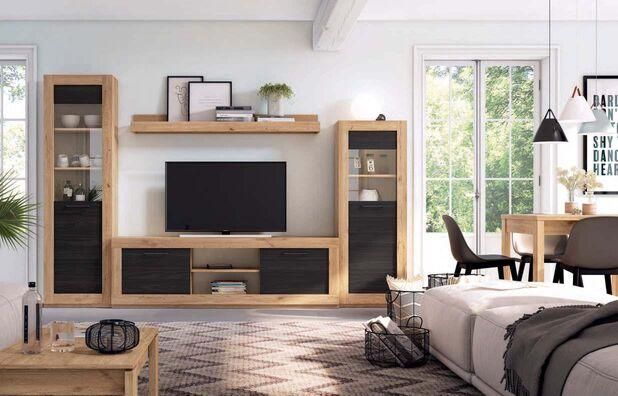 Mueble de salón moderno naturale bocamina 291 cm