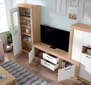 Mueble de salón blanco nordic naturale