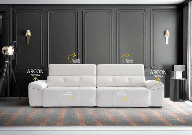 Sofá de 4 plazas con arcón