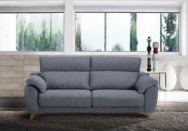Sofá tres plazas asientos deslizantes y respaldos declinables 200x85 cm